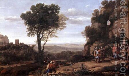 Landscape with David at the Cave of Abdullam, 1658 by Claude Lorrain (Gellee) - Reproduction Oil Painting