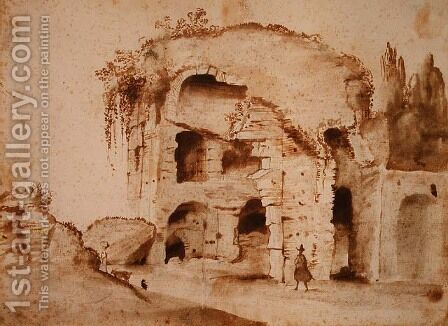 A Ruin on the Palatine by Claude Lorrain (Gellee) - Reproduction Oil Painting