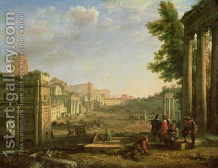 View of the Campo Vaccino, Rome, 1636 by Claude Lorrain (Gellee) - Reproduction Oil Painting