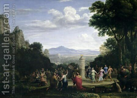 The Adoration of the Golden Calf, 1660 by Claude Lorrain (Gellee) - Reproduction Oil Painting