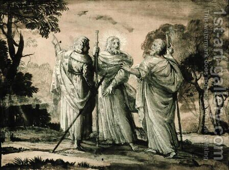 Journey to Emmaus by Claude Lorrain (Gellee) - Reproduction Oil Painting