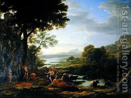 Apollo flaying Marsyas by Claude Lorrain (Gellee) - Reproduction Oil Painting