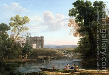 Evening, 1651 by Claude Lorrain (Gellee) - Reproduction Oil Painting