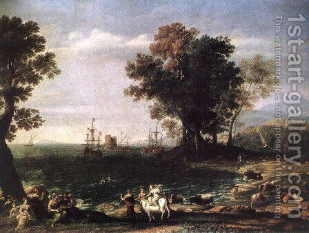 The Rape of Europa, 1655 by Claude Lorrain (Gellee) - Reproduction Oil Painting