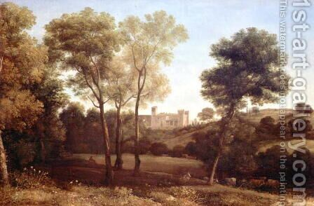 Landscape with Castle by Claude Lorrain (Gellee) - Reproduction Oil Painting