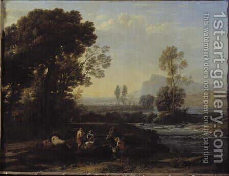 Landscape with the Flight into Egypt, 1647 by Claude Lorrain (Gellee) - Reproduction Oil Painting