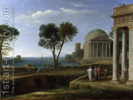 Landscape with Aeneas at Delos, 1672 by Claude Lorrain (Gellee) - Reproduction Oil Painting