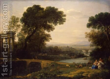 The Rest on the Flight into Egypt by Claude Lorrain (Gellee) - Reproduction Oil Painting