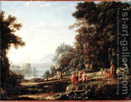 Landscape with Apollo and Marsyas, 1639-40 by Claude Lorrain (Gellee) - Reproduction Oil Painting