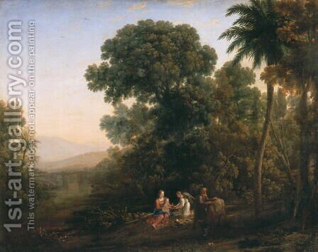 Rest on the Flight into Egypt by Claude Lorrain (Gellee) - Reproduction Oil Painting