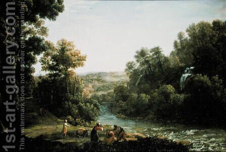 Wooded Landscape with a Brook, 1630 by Claude Lorrain (Gellee) - Reproduction Oil Painting