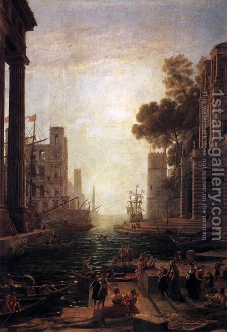 Embarkation of St. Paula Romana at Ostia, 1637-39 by Claude Lorrain (Gellee) - Reproduction Oil Painting