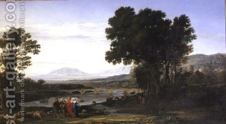 Landscape with Jacob and Laban and Laban's Daughters, 1654 by Claude Lorrain (Gellee) - Reproduction Oil Painting