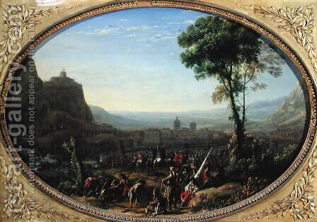 The Pass of Susa Taken by Louis XIII in 1629 by Claude Lorrain (Gellee) - Reproduction Oil Painting