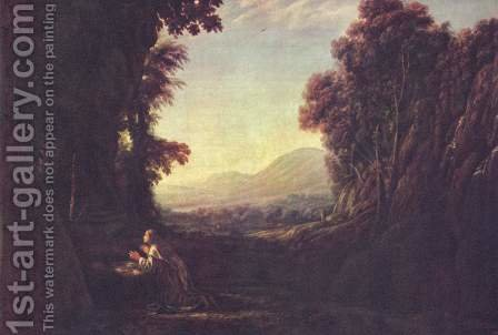 Landscape with the Repentant Magdalene by Claude Lorrain (Gellee) - Reproduction Oil Painting