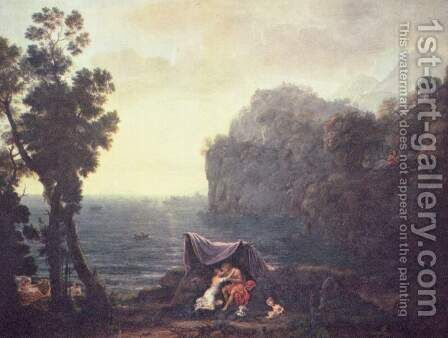 Coastal landscape with Acis and Galatea, 1657 by Claude Lorrain (Gellee) - Reproduction Oil Painting