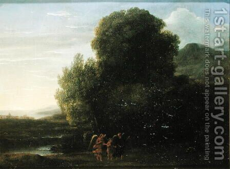 Landscape with St John the Baptist by Claude Lorrain (Gellee) - Reproduction Oil Painting