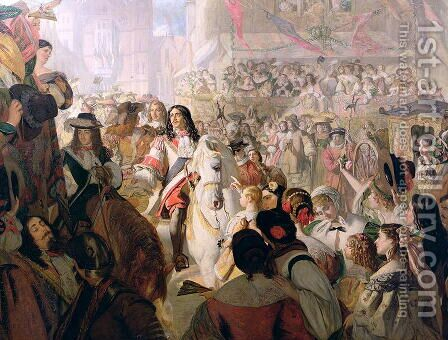 The Return of Charles II (1630-85) to Whitehall in 1660, 1867 by Alfred Barron Clay - Reproduction Oil Painting