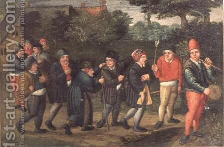 The Procession of the Fiance by Marten Van Cleve - Reproduction Oil Painting