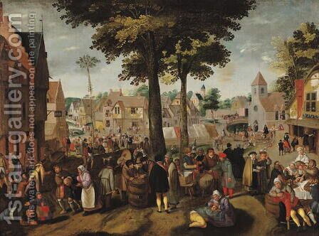 The Flemish Fair by (circle of) Cleve, Marten van - Reproduction Oil Painting