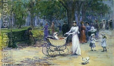 Promenading by Edward Clifford - Reproduction Oil Painting