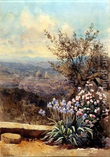 View over Florence towards the Duomo by Ina Clogstoun - Reproduction Oil Painting