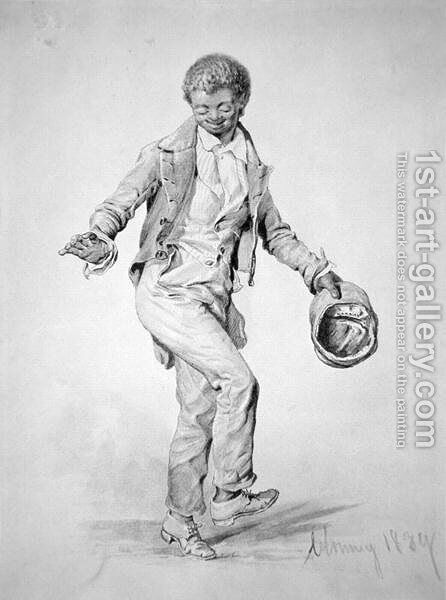 Negro boy dancing, 1839 by Ina Clogstoun - Reproduction Oil Painting