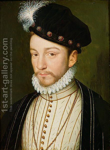 Charles IX (1550-74) by (after) Clouet, Francois - Reproduction Oil Painting