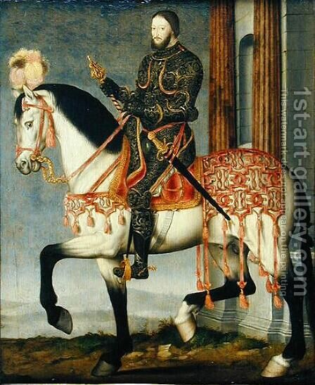 Francis I of France (1494-1547) by (and workshop) Clouet, Francois - Reproduction Oil Painting