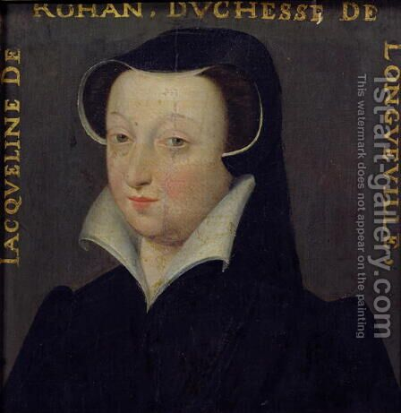 Jacqueline de Rohan (1520-86), Duchesse de Longueville by Anonymous Artist - Reproduction Oil Painting