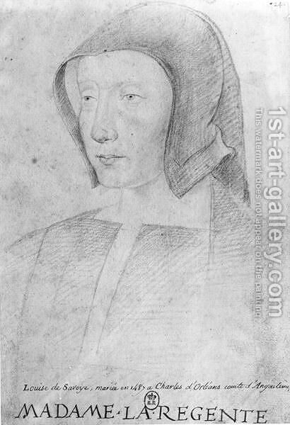 Louise de Savoie (1476-1531) ( by Anonymous Artist - Reproduction Oil Painting