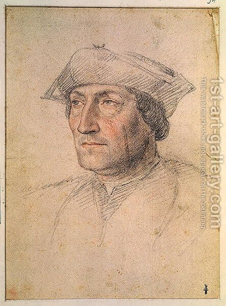Portrait presumed to be Louis of Breze (d. 1531) Count of Maulevrier, c. 1521 by Anonymous Artist - Reproduction Oil Painting