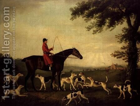 Huntsman with Hounds in a Landscape by Daniel Clowes - Reproduction Oil Painting