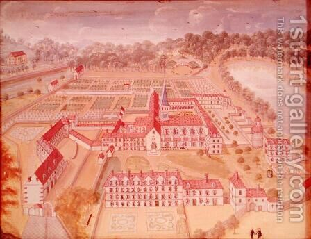 General View of the Abbey from 'l'Abbaye de Port-Royal', c.1710 by (after) Cochin, Louise Madelaine - Reproduction Oil Painting