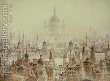 A Tribute to Sir Christopher Wren by Charles Robert Cockerell - Reproduction Oil Painting
