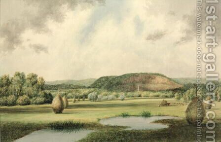 West Rock, New Haven, Connecticut, c.1854-60 by Benjamin H. Coe - Reproduction Oil Painting