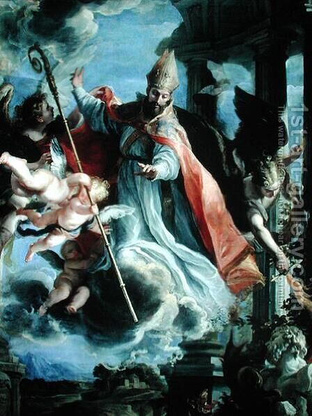 The Triumph of St. Augustine (354-430) 1664 by Claudio Coello - Reproduction Oil Painting