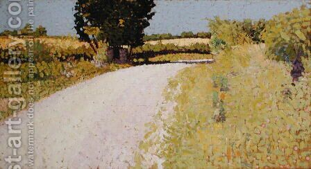 Path in the Country, c.1886 by Charles Angrand - Reproduction Oil Painting