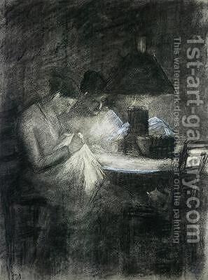 The Seamstresses by Charles Angrand - Reproduction Oil Painting