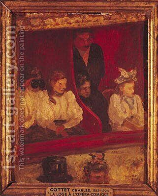 Box at the Opera-Comique, 1887 by Charles Cottet - Reproduction Oil Painting