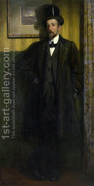 Portrait of Lucien Simon (1864-1945) 1907 by Charles Cottet - Reproduction Oil Painting