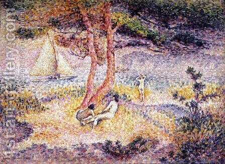The Beach at St. Clair, 1901 by Henri Edmond Cross - Reproduction Oil Painting