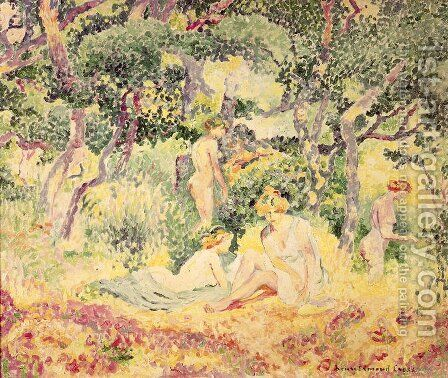 Nudes in a Wood, 1905 by Henri Edmond Cross - Reproduction Oil Painting