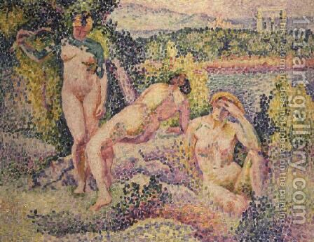 Three Nudes, 1906 by Henri Edmond Cross - Reproduction Oil Painting