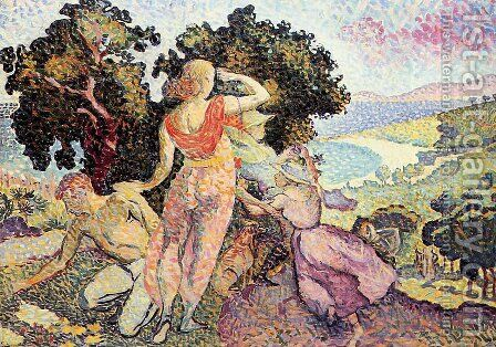 The Excursionists, 1894 by Henri Edmond Cross - Reproduction Oil Painting