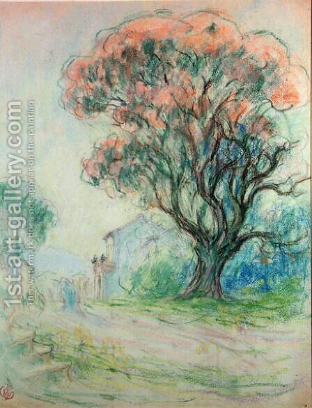 Pink tree by Claude Emile Schuffenecker - Reproduction Oil Painting