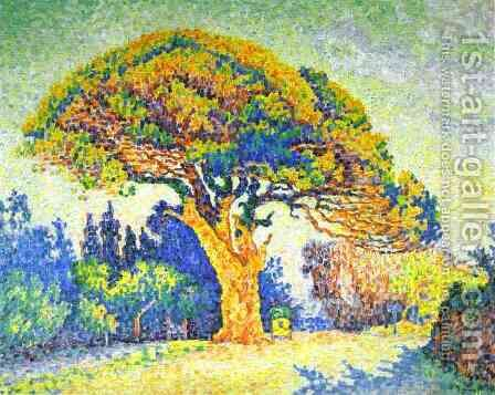 The Pine Tree at St. Tropez, 1909 by Paul Signac - Reproduction Oil Painting