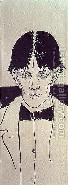 Self portrait, aged eighteen, c.1890 by Aubrey Vincent Beardsley - Reproduction Oil Painting