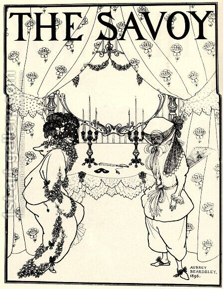 Title page from 'The Savoy' No. 1 and 2, 1896 by Aubrey Vincent Beardsley - Reproduction Oil Painting