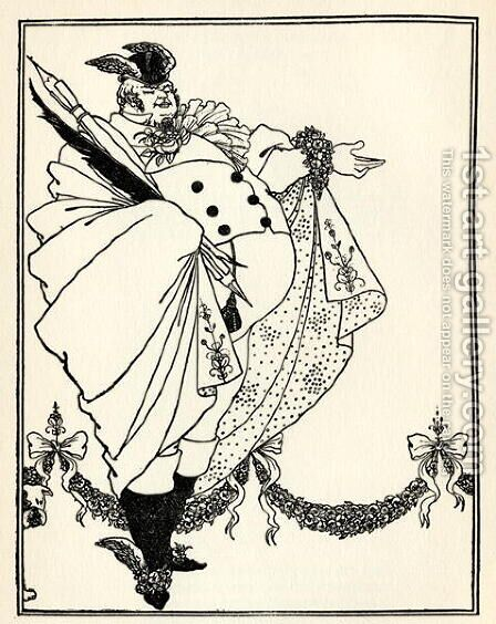 Design for the contents page of 'The Savoy', Volume I, 1896 by Aubrey Vincent Beardsley - Reproduction Oil Painting